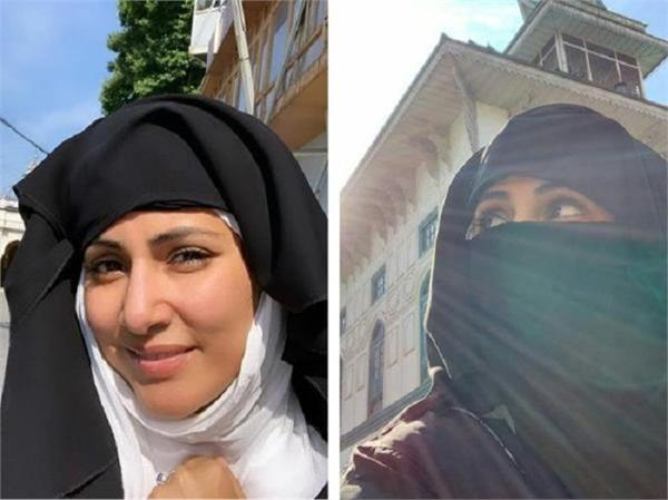 hina khan walks barefoot to hazrat sayed yaqoob sahib