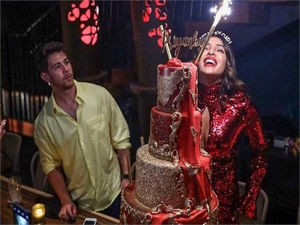 priyanka chopra  s  birthday cake