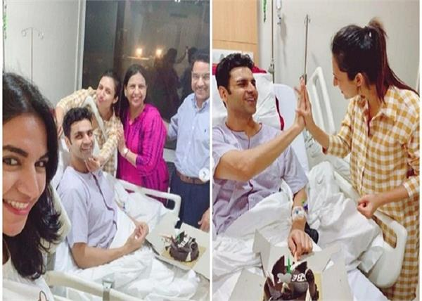 divyanka tripathi celebrates wedding anniversary with vivek dahiya in hospital