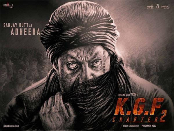 sanjay dutt looks fierce as adheera in yash  s   kgf 2