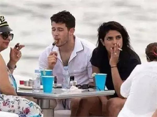 priyanka chopra enjoys a smoke with hubby nick jonas in miami