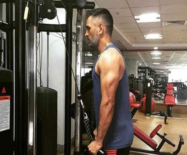 dhoni ranchi stadium speculation sweat in the gym