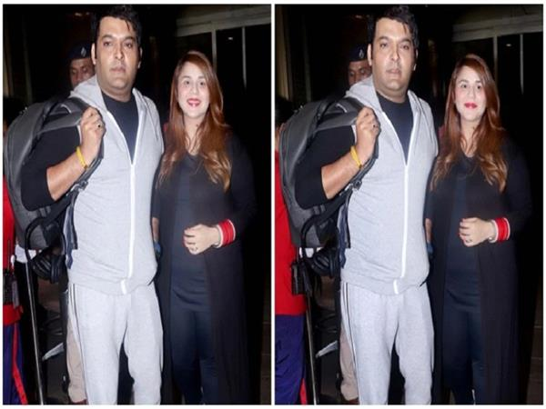 kapil sharma jets off to canada with pregnant wife ginni chatrath