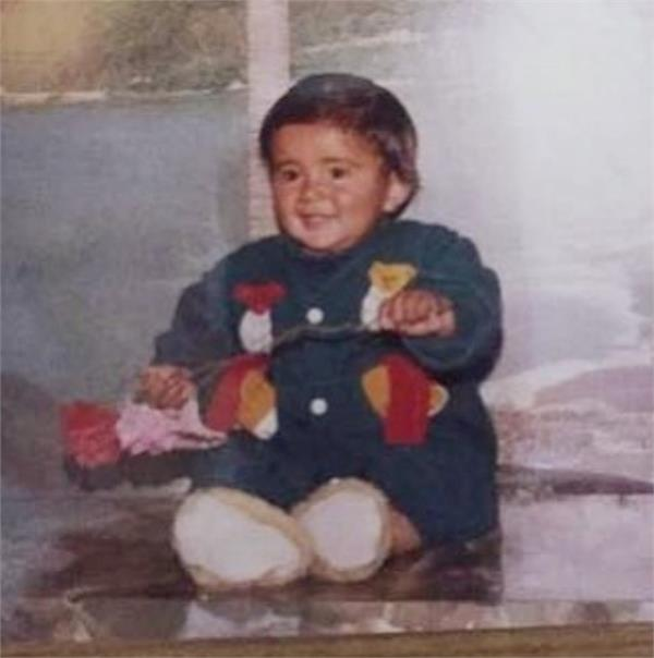 amrit maan childhood picture share on instagram