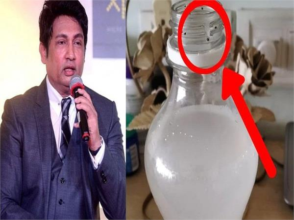 shekhar suman shocked after finding this inside his cold drink bottle