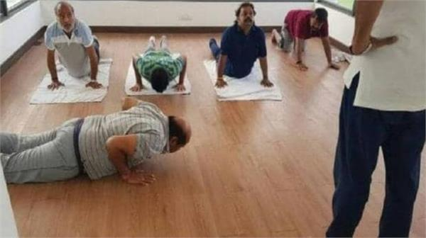 jds yoga club with political  karnataka leader