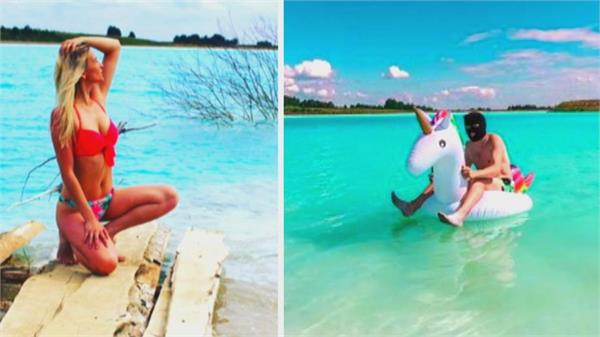 pictures of this blue lake are getting viral