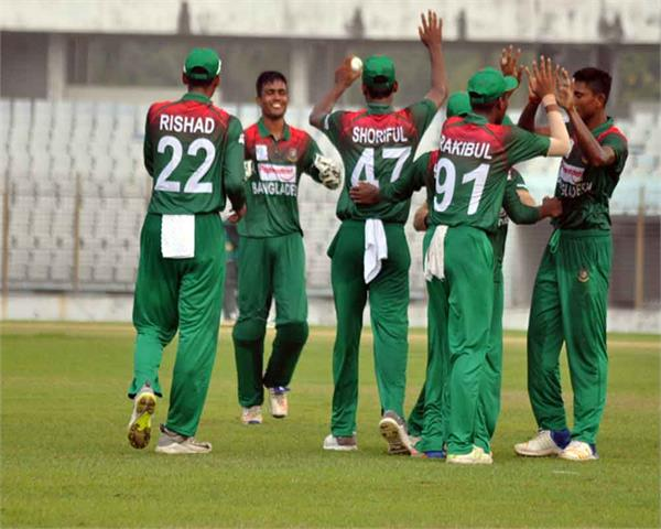 bangladesh u 19 team defeated india by 2 wickets