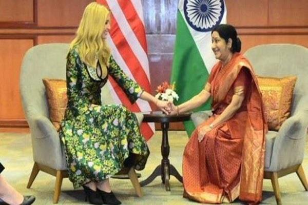 ivanka trump sushma swaraj  champion