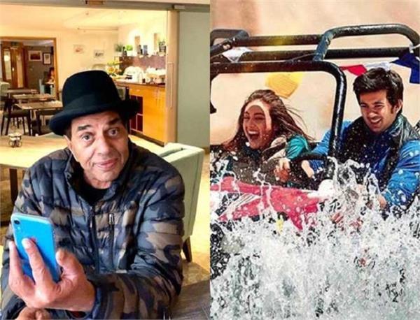 dharmendra posts special message for grandson karan deol s debut film