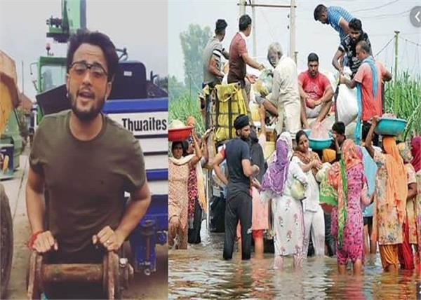 r nait presents the pain of punjab floods by his voice