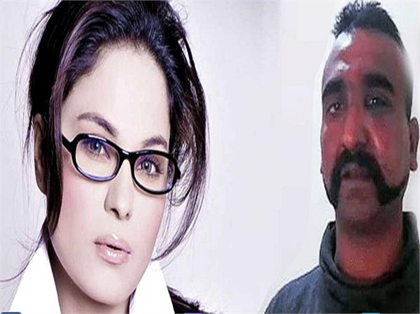 veena malik tweet on wing commander abhinandan