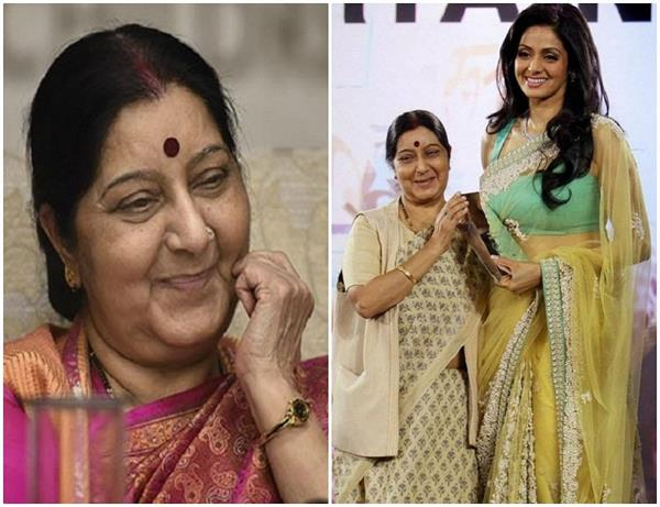 sushma swaraj photos with bollywood stars