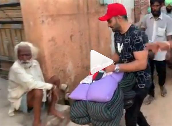 resham singh anmol punjab floods victims help viral video