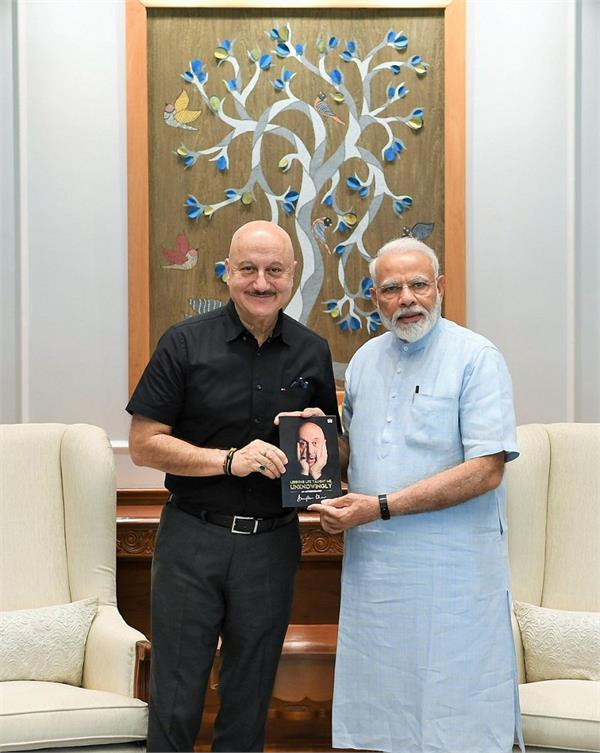 honourable prime minister narendra modi congratulates anupam kher