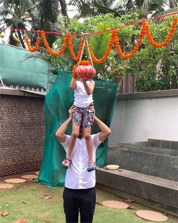 dahi handi on janamashtami  proud mom shilpa shetty shares video