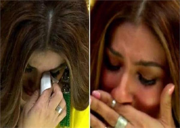 raveena breaks down as urvashi and anuj get eliminated