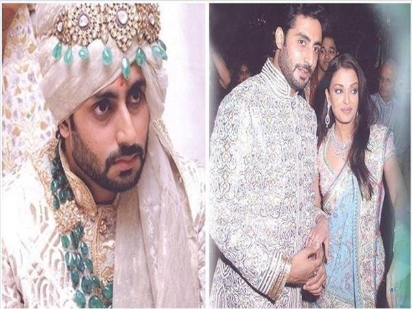 abhishek bachchan looked dapper as groom at his wedding with aishwarya rai