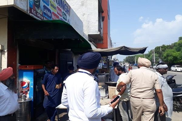 sangrur traffic police illegal possession