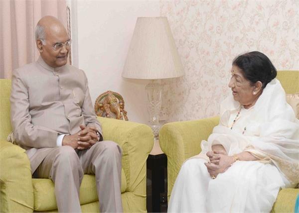 president ramnath kovind met lata mangeshkar