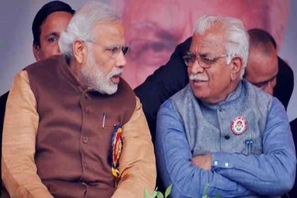 pm modi jan aashirwad yatra in rohtak