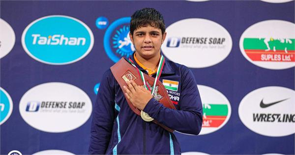winning the gold medal in the world cadet sonam cash award