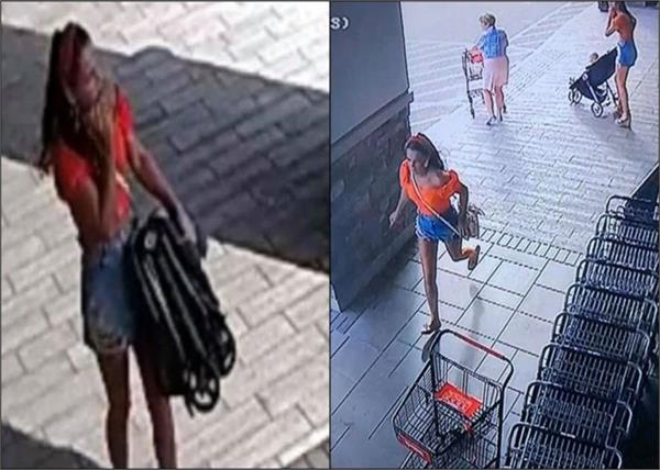 the woman who came to steal her baby open in the mall