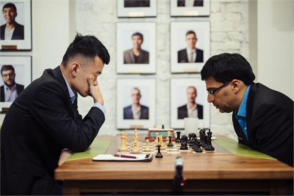sinkfield cup chess  anand played draw with caruana