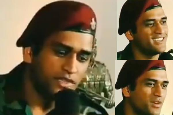 dhoni sings bollywood songs in army show  watch video