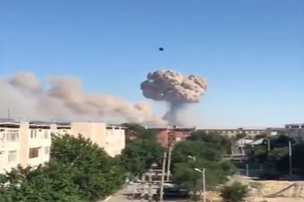 explosion kazakhstan leaves 4 injured