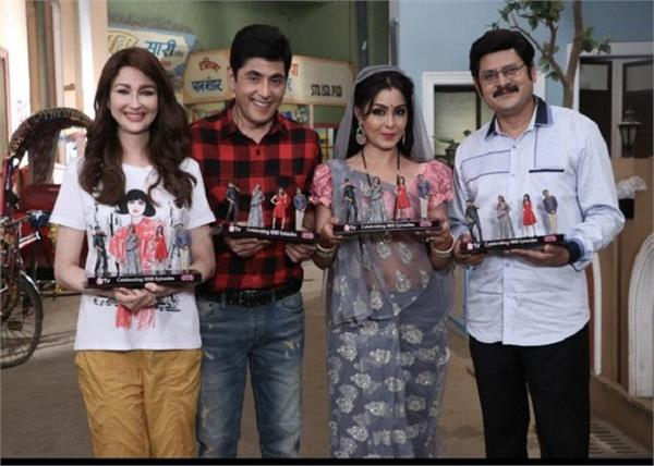 bhabiji ghar par hain team receives cute trophies