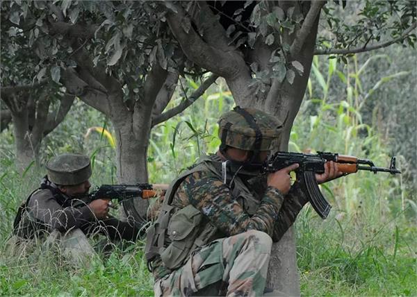 jammu and kashmir security forces terrorist firing