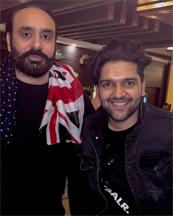 babbu maan and guru randhawa snapped together punjabi singers