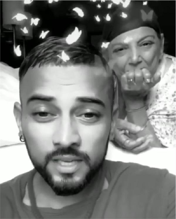 garry sandhu with mother avtar kaur emotional video