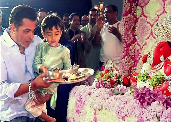 salman khan gets trolls after aarti at sister arpita ganpati visarjan