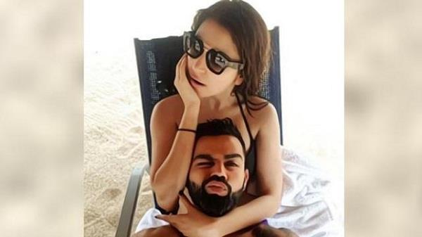 kohli shared a romantic photo with anushka