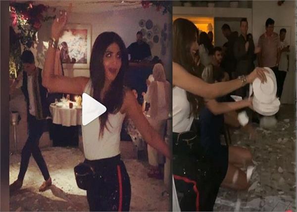shilpa shetty breaks plates while dancing in dubai
