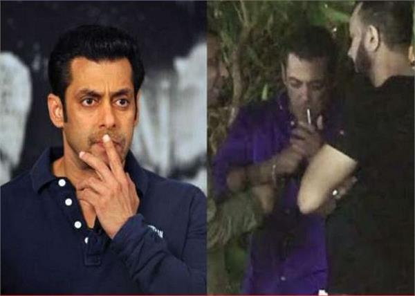 on the occasion of ganesh immersion bhaijaan was spotted smoking