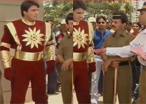 shaktimaan traffic challan video viral