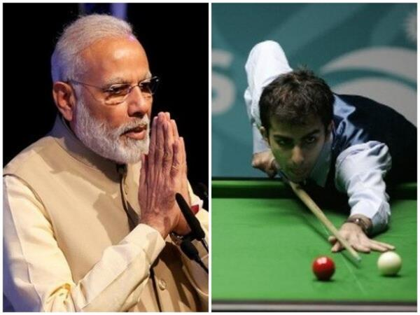 modi congratulates advani on winning the fourth consecutive ibsf world title