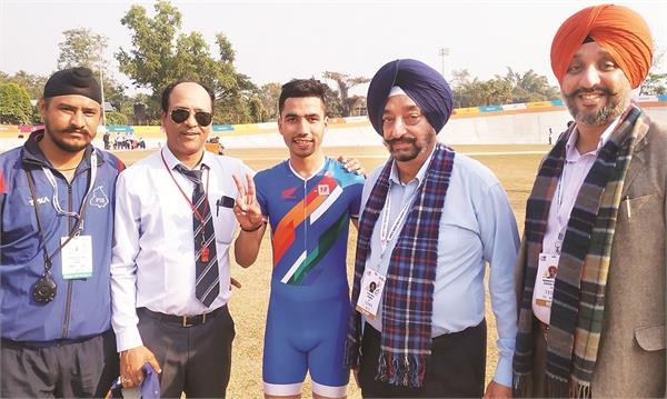 punjab wins first gold in cycling