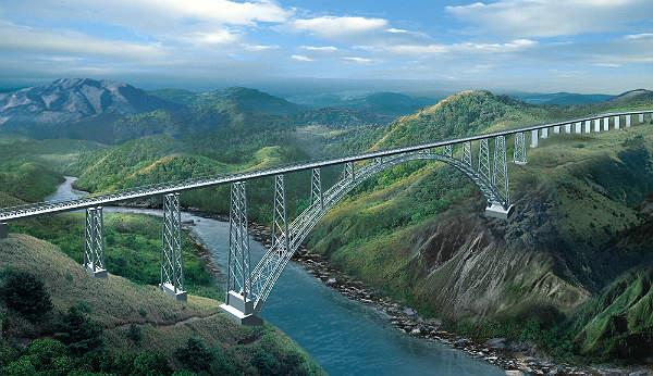 railway arch bridge connect the country with   jannat e kashmir   in december 2021