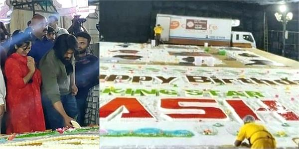 yash celebrates birthday with 5 000 kg cake