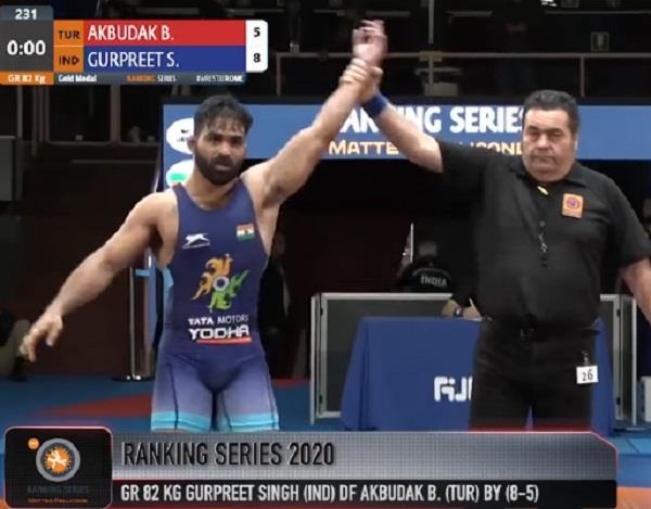 gurpreet singh rome series rankings gold medal story