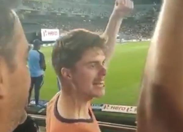 team india  kiwi fan  bharat mata ki jai  video viral