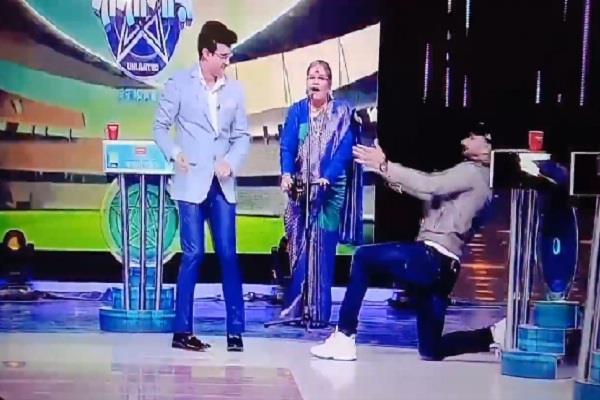 harbhajan singh  sourav ganguly  dance step  video viral
