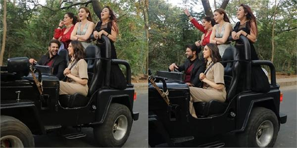 deepika padukone goes for joy ride with contestants in filmcity