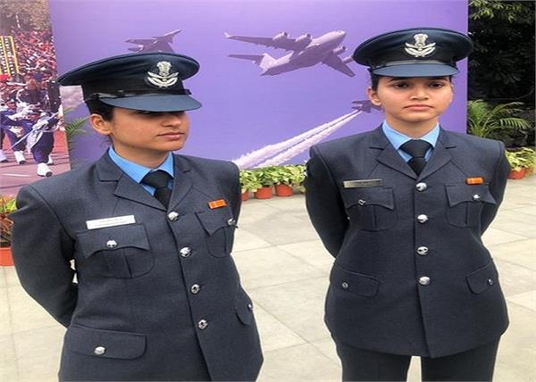 republic day parade 2 women flight lieutenant