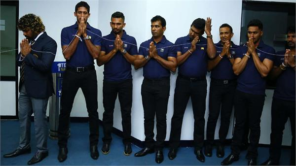 sri lankan team arrives in guwahati for the t20 series against india