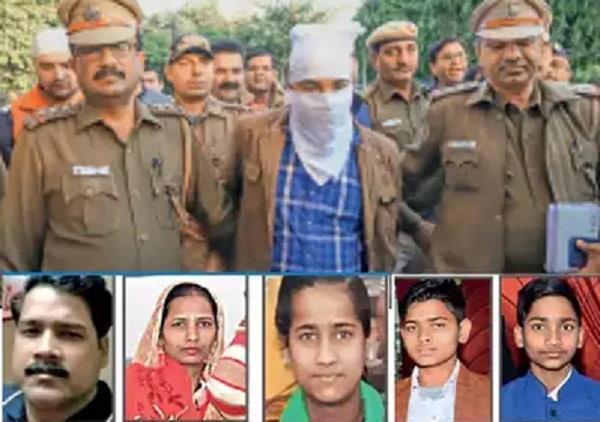 murder family members bhajanpura accused arrested